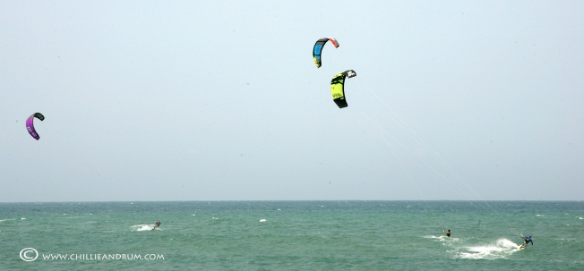 Pack away the surf boards - It's a day for kiting!